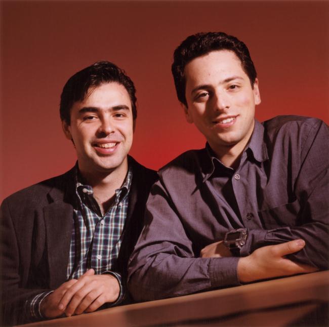 Google: i fondatori Larry Page e Sergey Brin