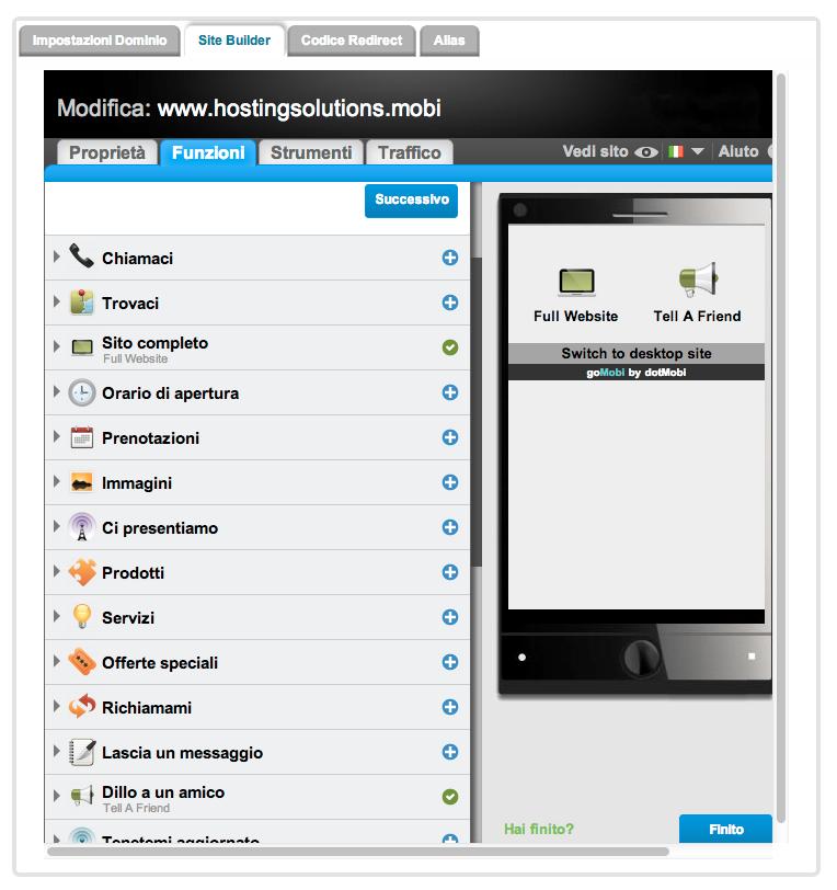 Come funziona gomobi il sito mobile per tutti i clienti for Sito mobili