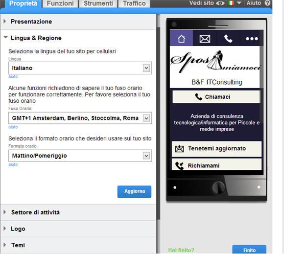 Un sito Web mobile gratis in pochi clik: goMobi – terza parte