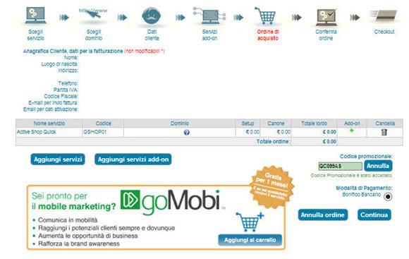 E-commerce con un negozio ActiveShop - parte seconda
