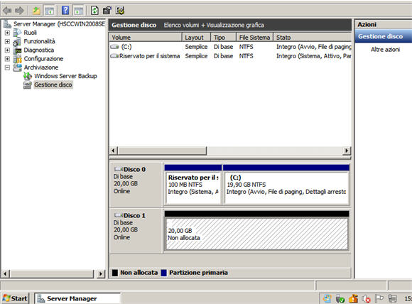Cloud computing: un nuovo disco permanente su Windows server