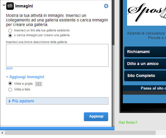 Sito mobile gratis in pochi clik gomobi settima parte for Sito mobili