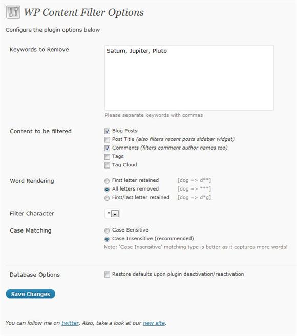 WordPress, un filtro gratuito per le parole sgradite: WP Content Filter