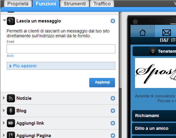 Sito mobile gratis in pochi clik gomobi decima parte for Sito mobili