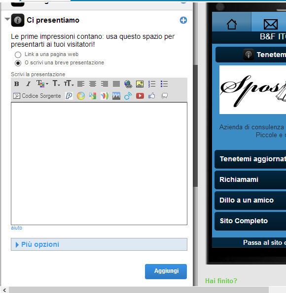 Sito mobile gratis in pochi clik: goMobi – ottava parte