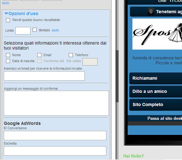 Sito mobile gratis in pochi clik: goMobi – nona parte