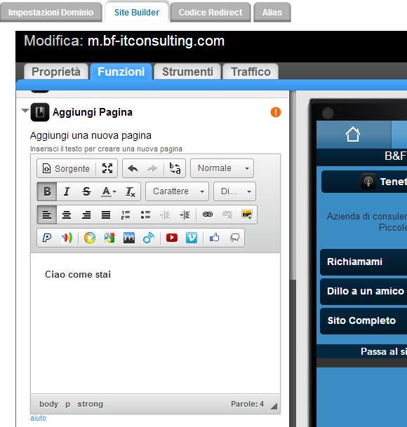 Sito mobile gratis in pochi clik: goMobi – dodicesima parte