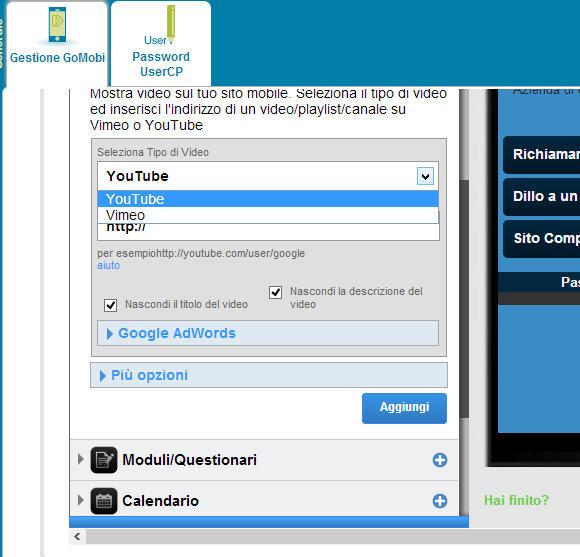 Sito mobile gratis in pochi clik gomobi dodicesima parte for Sito mobili