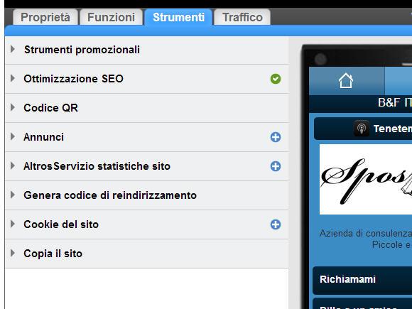 Sito mobile gratuito in pochi click gomobi xix for Sito mobili