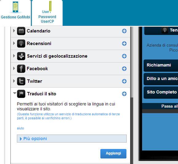 Sito mobile gratis in pochi click: goMobi – XVII parte