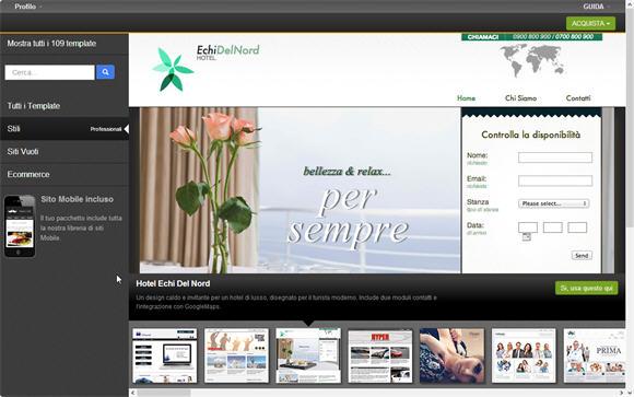 Template sito Web con Site Generator | Guida 2