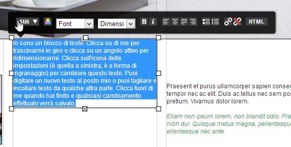 Come creare un sito con i widget di Site Generator