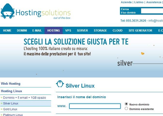 Hosting Silver Linux: il nostro campione anche nel 2013