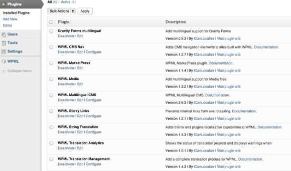 WordPress WPML per un sito multilingua in un'unica installazione