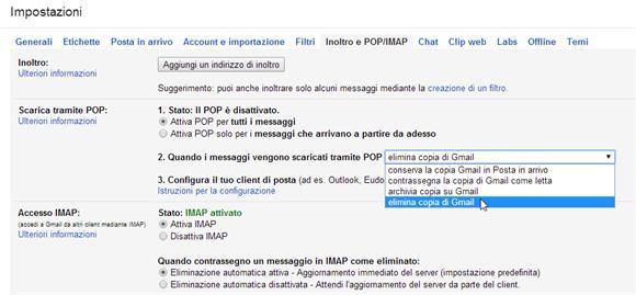 Gmail: posta elettronica da un vecchio a un nuovo account