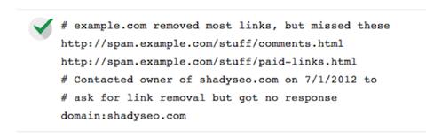 Google Rimozione URL (Disavow) per eliminare i backlink pericolosi