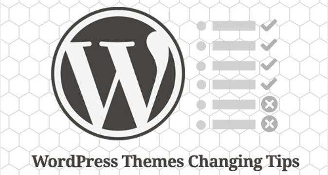 Cambiare un tema WordPress e prepararsi all'aggiornamento - I parte