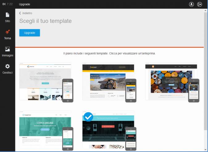 Homepage editor per domini