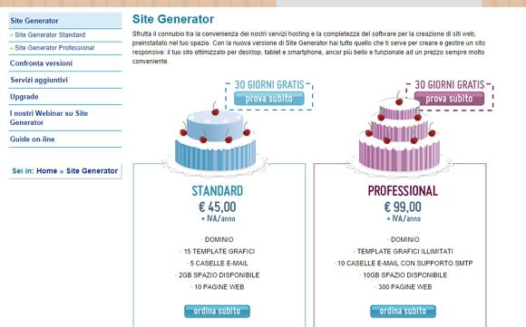 Come costruire un sito web da zero con Site Generator – I parte