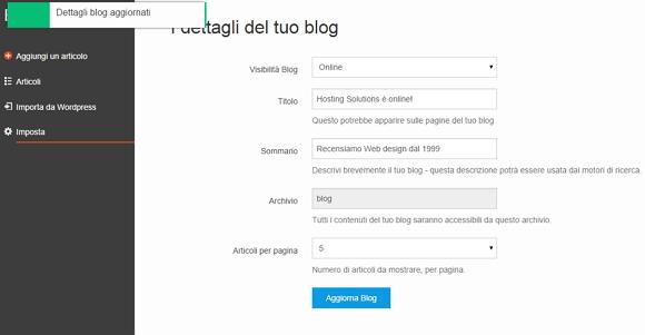 Costruire un sito web da zero con Site Generator – V parte