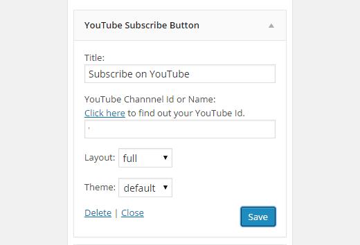 Aggiungere un pulsante iscrizione YouTube a WordPress