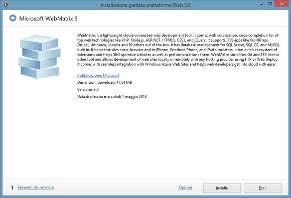 Microsoft Webmatrix, cos'è e a chi si rivolge – II parte