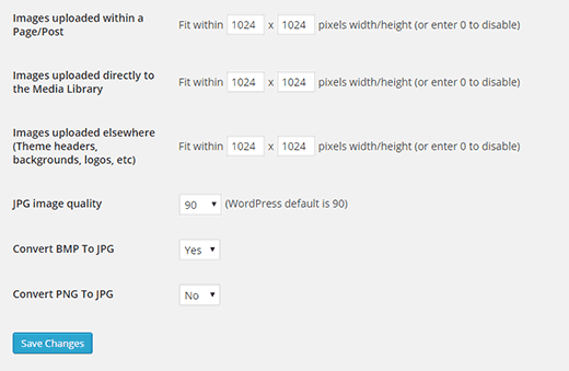 Ridimensionare tutte le immagini WordPress con un solo clic
