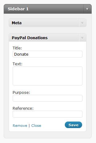 wordpress paypal donation