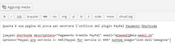 wordpress paypal payment shortcode