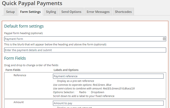 wordpress paypal quick paypal payments