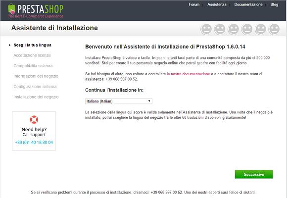 e-commerce prestashop installazione 5