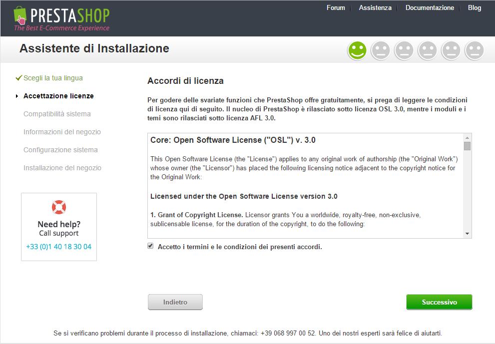 e-commerce prestashop installazione 6