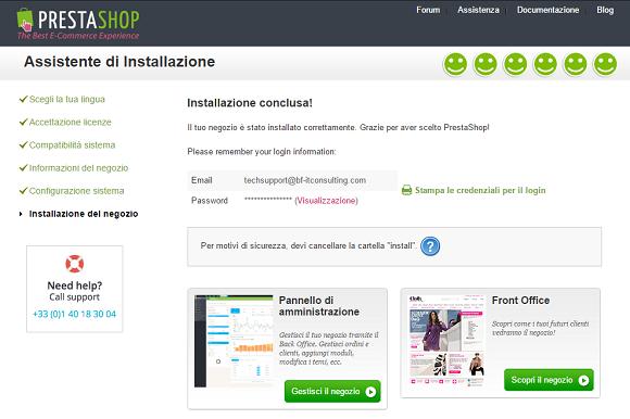 e-commerce prestashop installazione 9