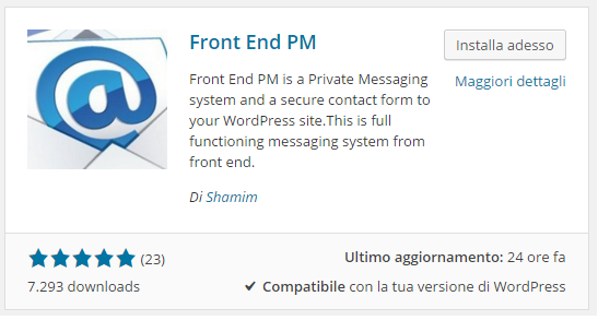 sistema di private messaging in WordPress 1