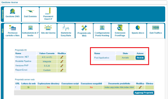 windows server 2012 riciclo pool applicazioni