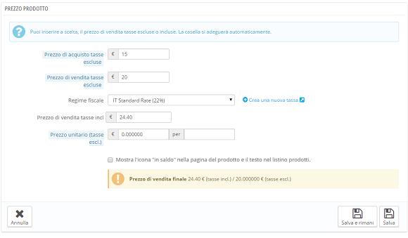 e-commerce prestashop inserimento prodotti 4