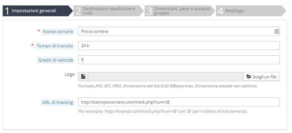 e-commerce prestashop metodi spedizione 1
