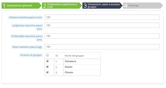 e-commerce prestashop metodi spedizione 3