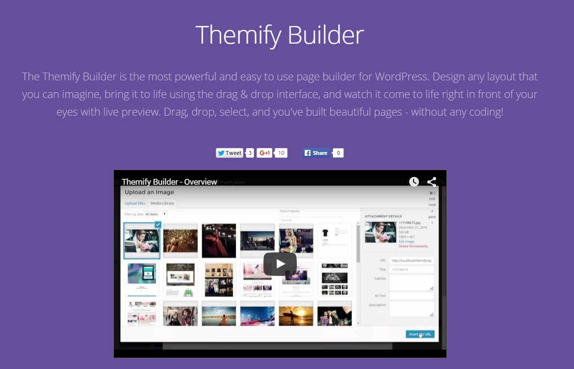 WordPress estensioni site builder - Themify