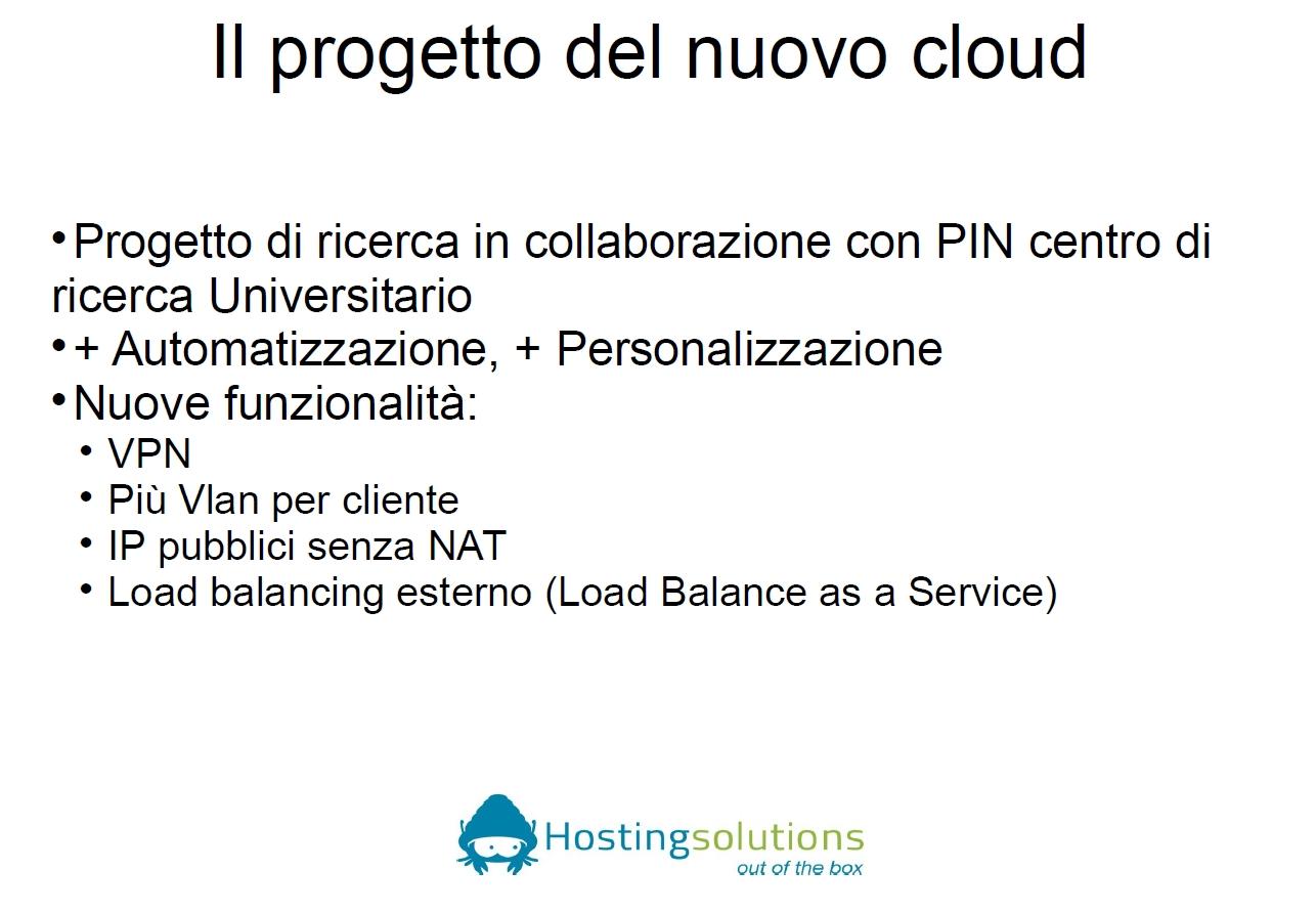 Progetto nuovo cloud