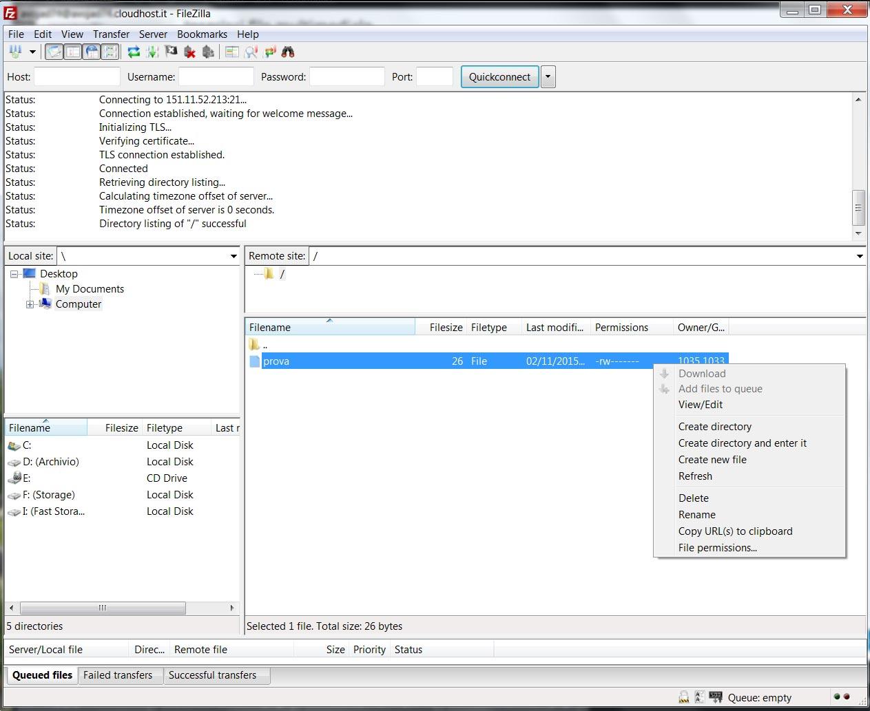 Smart Storage Client FTP