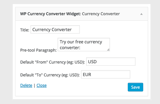 WP Currency Converter