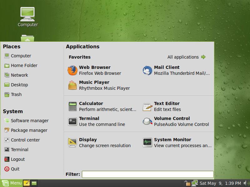 Linux Mint - MintMenu
