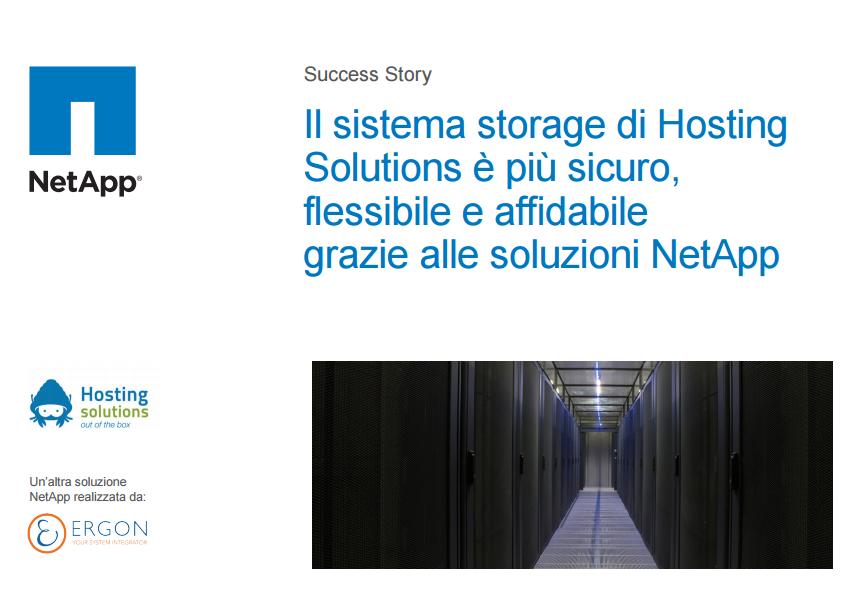 NetApp ed Hosting Solutions