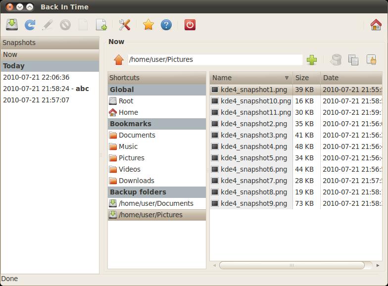 Back in time backup Ubuntu