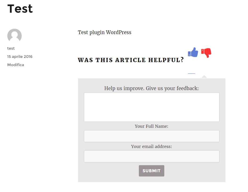 WordPress e feedback degli utenti