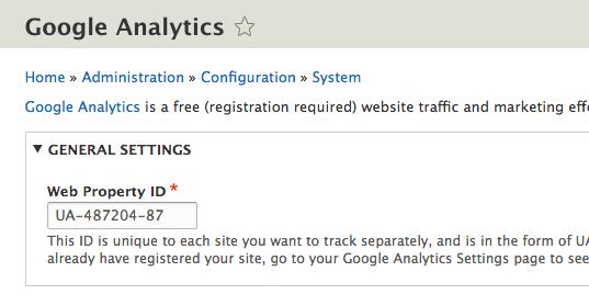Drupal e Google Analytics