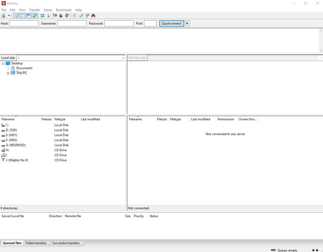Trasferimento di un sito su Hosting Solutions - FileZilla