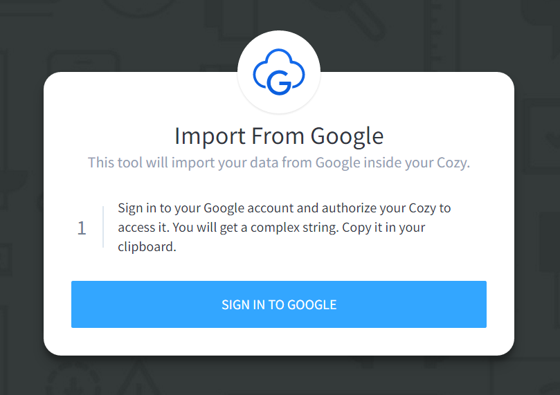Cozy Import from Google