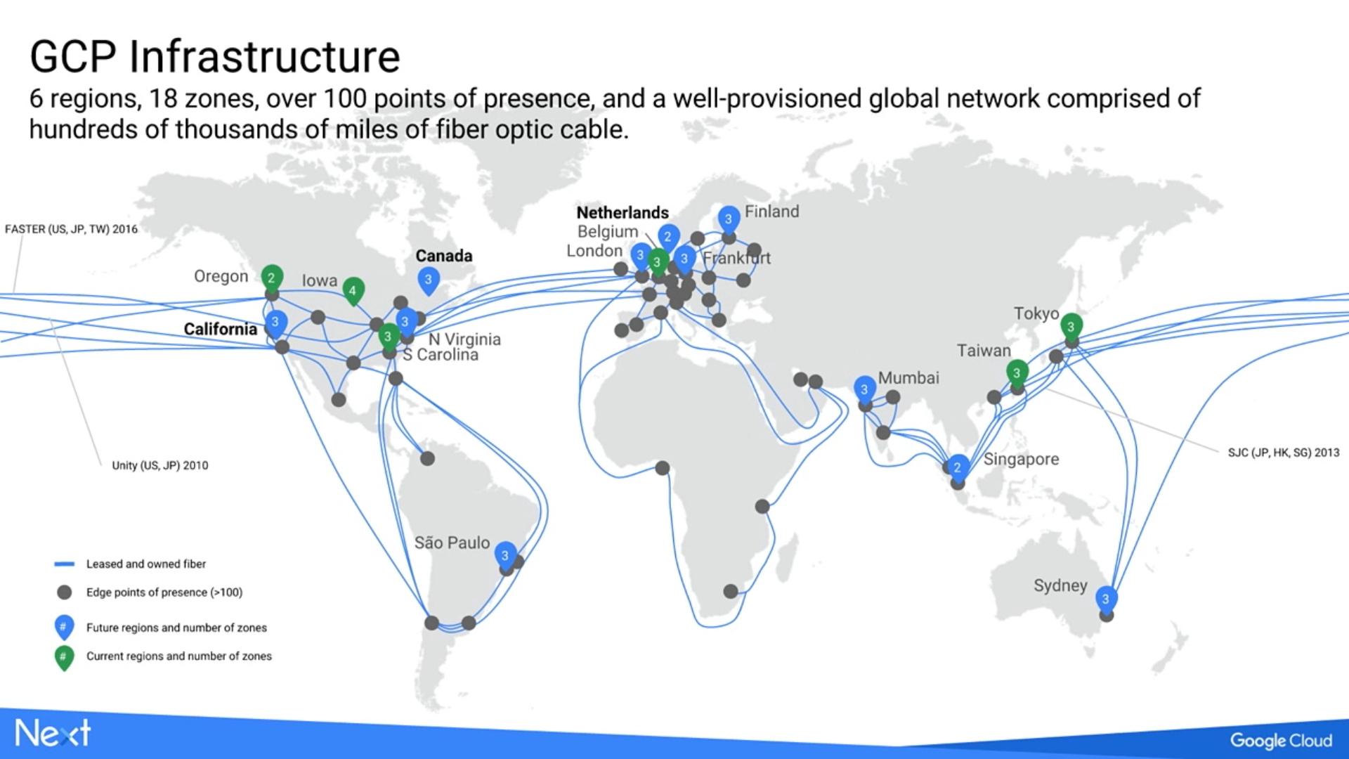 Google Cloud Platform infrastruttura a livello globale
